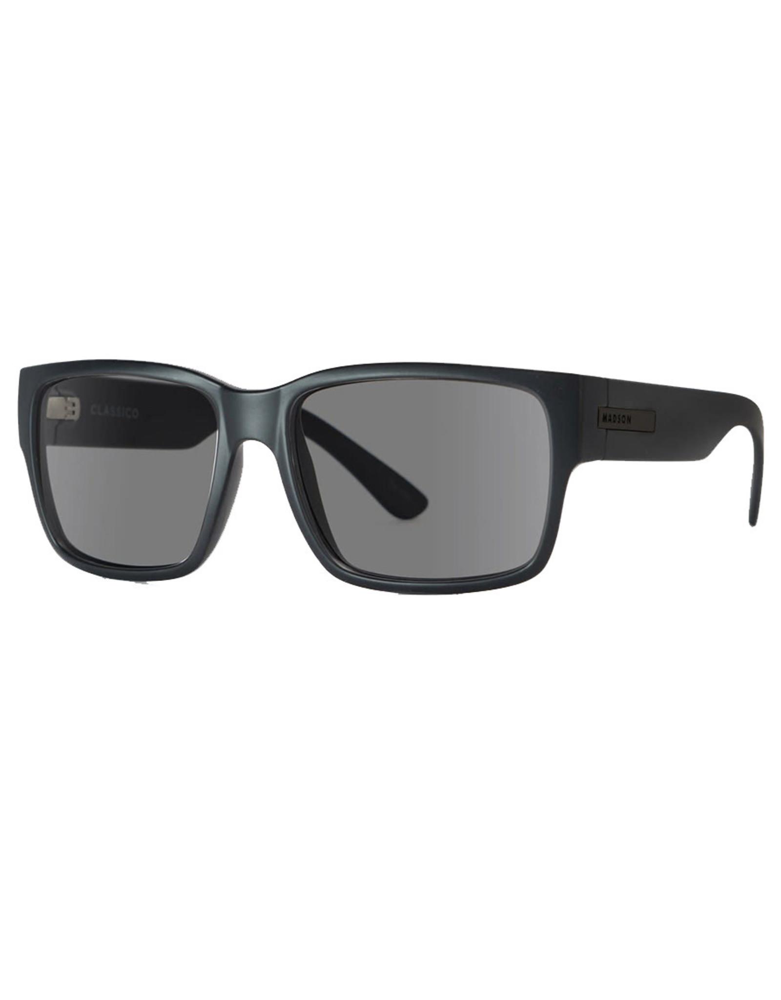 Madson Madson Sunglasses Classico (Black On Black/Grey Polarized Lens)