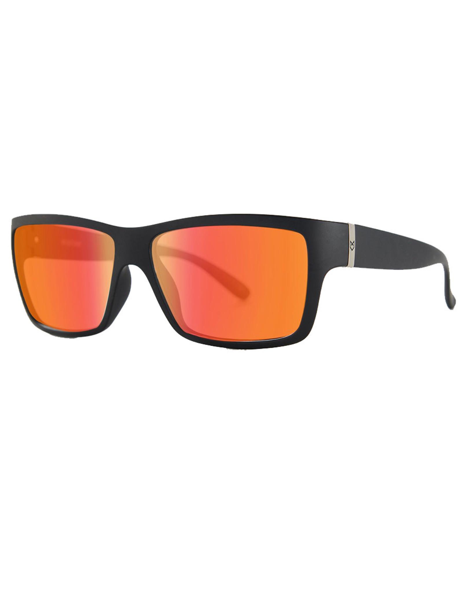 Madson Madson Sunglasses Piston (Black Matte/Fire Chrome Polarized Lens)