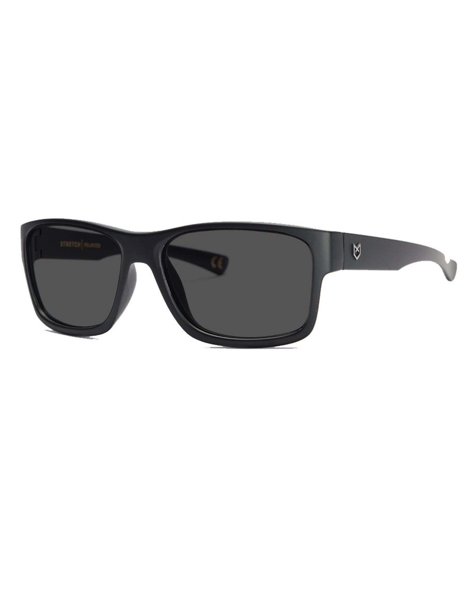 Madson Madson Sunglasses Stretch (Black On Black/Grey Polarized Lens)