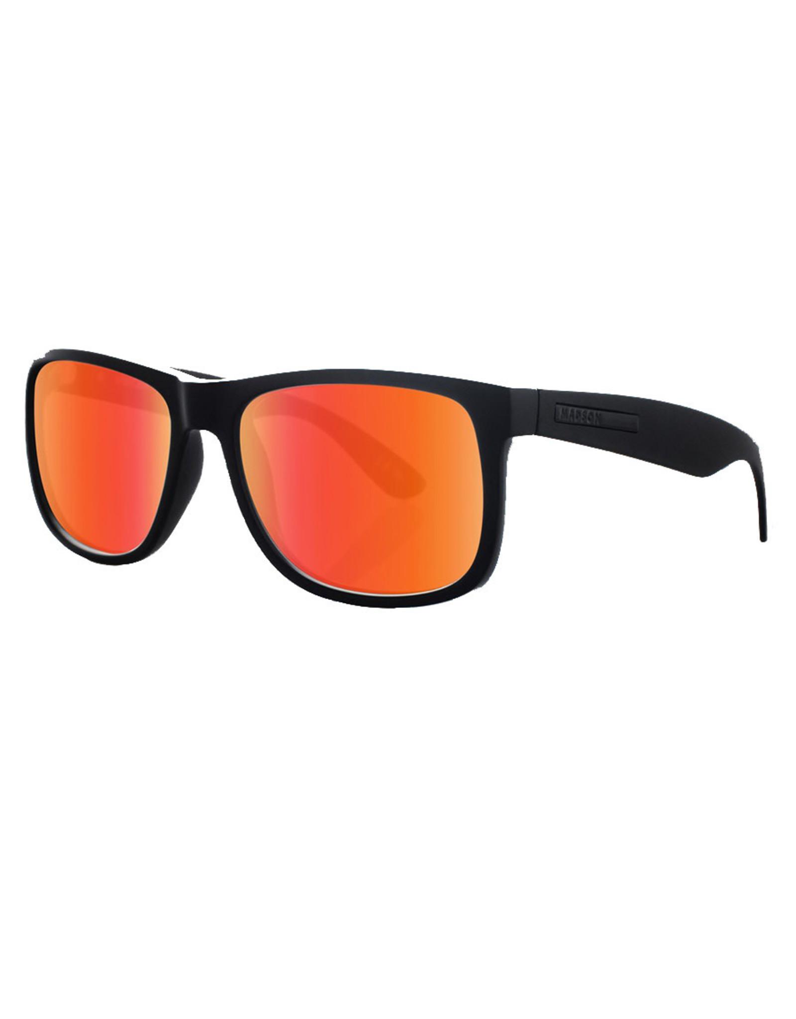 Madson Madson Sunglasses Vincent (Black On Black/Red Chrome Polarized Lens)