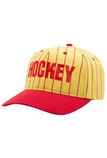 Hockey Hockey Hat Striped Snapback (Yellow/Red)