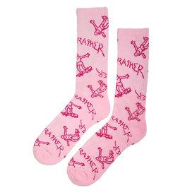Thrasher Thrasher Socks Gonz Logo Crew (Pink)