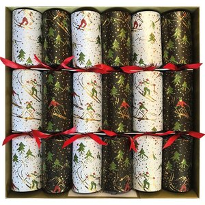 Caspari Winter Sports Christmas Crackers