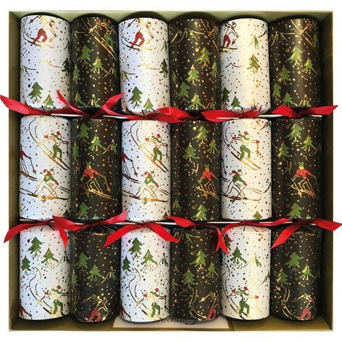 Caspari Caspari Winter Sports Christmas Crackers