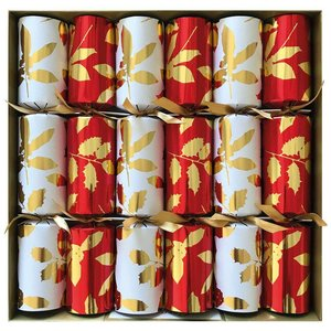 Caspari Caspari Holly Silhouettes Christmas Crackers
