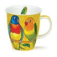 Dunoon Nevis Tropical Birds Parakeets Mug