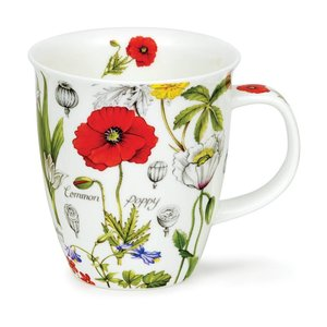 Dunoon Dunoon Nevis Floral Diary Poppy Mug