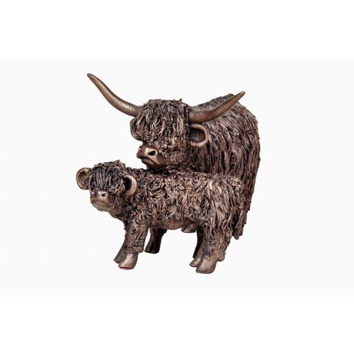 Frith Sculpture Frith Highland Cow with Calf: VB067