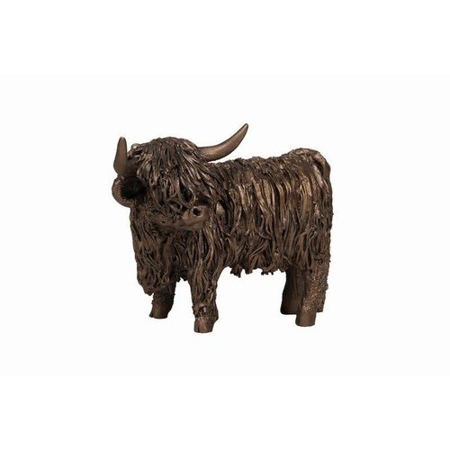 Frith Sculpture Frith Highland Cow Standing Small: VB075
