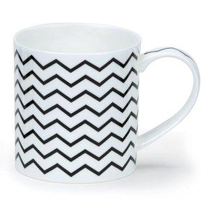 Dunoon Orkney Mono Zig Zags Mug