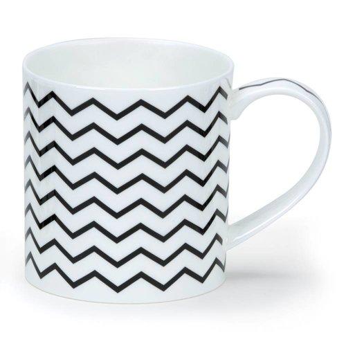 Dunoon Dunoon Orkney Mono Zig Zags Mug