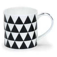 Orkney Mono Triangles Mug