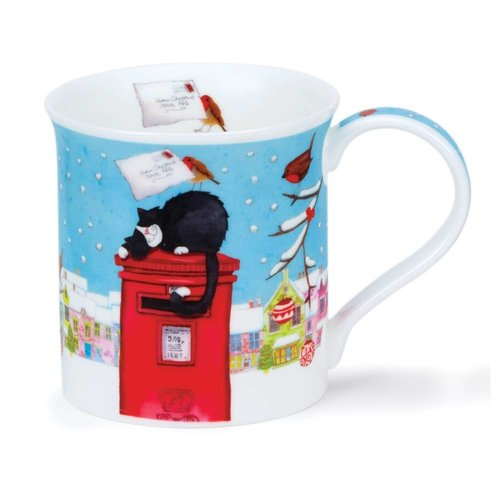 Dunoon Dunoon Bute Christmas Post Cat Mug
