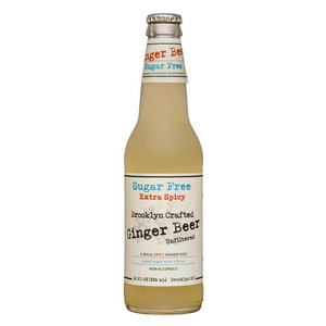 Brooklyn Crafted Extra Spicy Sugar Free Ginger Beer Glass Bottle