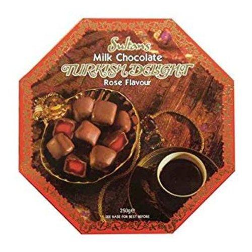 Sultans Sultans Milk Chocolate Turkish Delight Rose Flavoured
