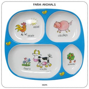 Baby Cie Farm Animals TV Tray Melamine