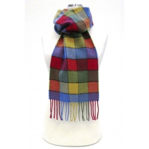 Calzeat Border Lambswool Scarf Lagos Funfair