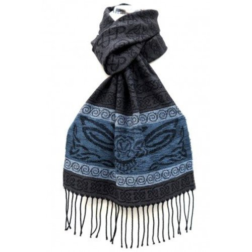 Calzeat Calzeat Jacquard Celtic Owl Scarf