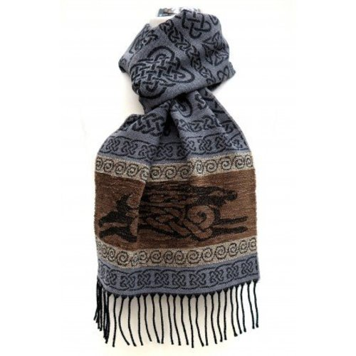 Calzeat Calzeat Jacquard Celtic Hare Scarf
