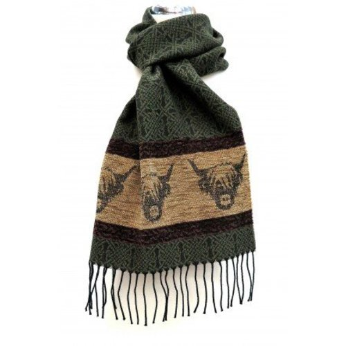 Calzeat Calzeat Jacquard Highland Cow Scarf