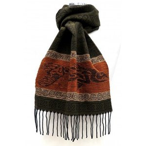 Calzeat Calzeat Jacquard Celtic Fish Scarf