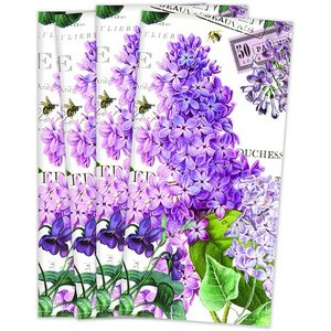 Michel Design Works Michel Lilac and Violets Hostess Napkin