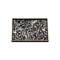 Black Florentine Wooden Vanity Tray