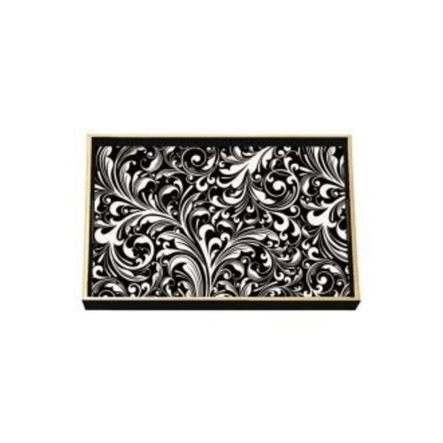 Michel Design Works Black Florentine Wooden Vanity Tray