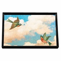 Cloud Nine Vanity Decoupage Wooden Tray
