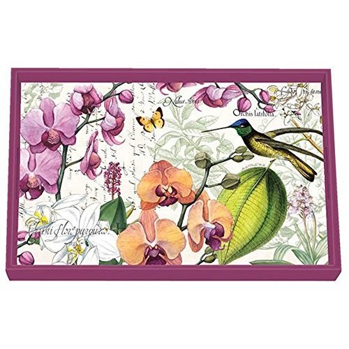 Michel Design Works Michel Orchids in Bloom Vanity Decoupage Wooden Tray