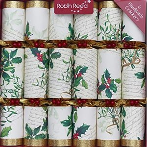 Robin Reed Robin Reed Holly & Mistletoe Christmas Crackers