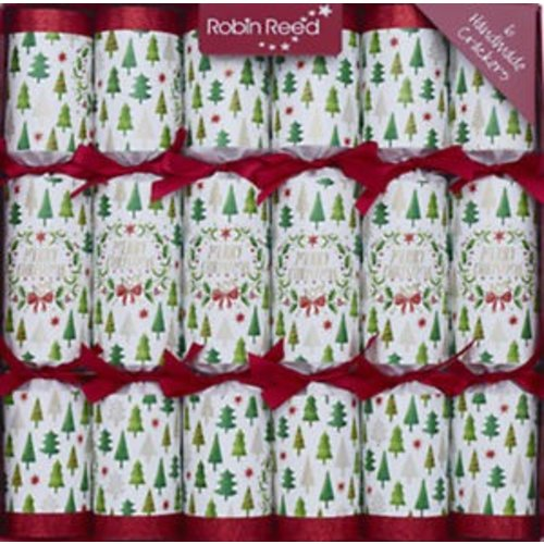 Robin Reed Merry Christmas - Trees -6 count