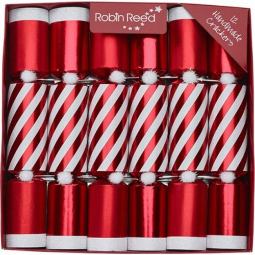 Robin Reed Robin Reed Candy Stripes Christmas Crackers - 12 Count