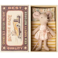 Maileg Little Sister Mouse in Box - Yellow Blanket
