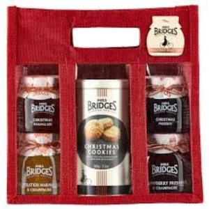 Mrs. Bridges Mrs. Bridges Christmas Selection Jute Bag (Biscuits/Preserves)