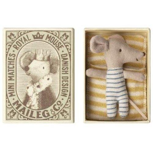 Maileg Maileg Baby Mouse, Sleepy/Wakey in Box - Boy