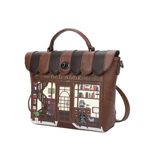 Vendula Vendula Book Shop Coffee Convertable Backpack