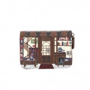 Vendula Vendula Book Shop Coffee Small Ziparound Wallet