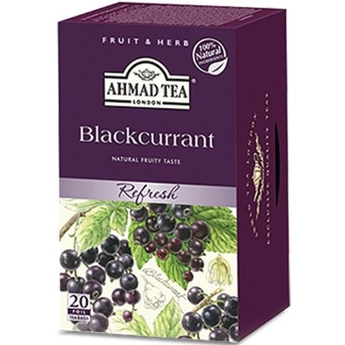 Ahmad Tea Ahmad Blackcurrant Refresh Herbal 20's Tea