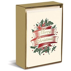 Graphique Merry Christmas Scroll Boxed Cards