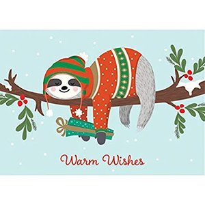 Graphique Graphique Warm Wishes Sloth Boxed Christmas Cards