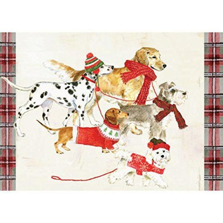 Graphique Boxed Christmas Cards-Christmas Dogs - British Isles
