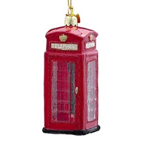 "Kurt Adler Noble Gems 4"" British Phone Booth Ornament"