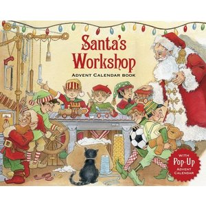 Santa's Workshop Advent Calendar Book With 3D Pop Up