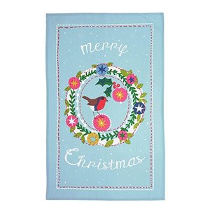 Ulster Weavers Frosty Garland Cotton Tea Towel