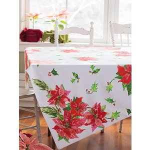April Cornell Poinsettia Tablecloth 54x54