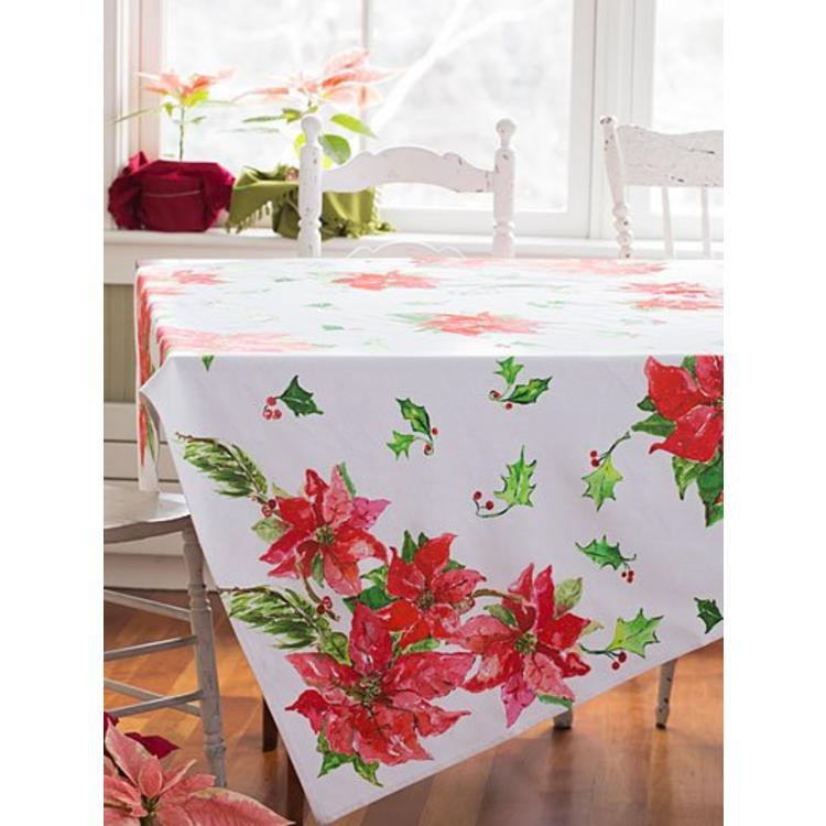 April Cornell April Cornell Poinsettia Tablecloth 54x54