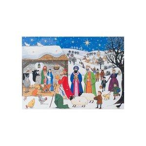 Alison Gardiner Alison Gardiner Jesus is Born Paper Advent Calendar Greeting Card-Small