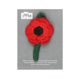 imperial war museums Crocheted Poppy Pin IWM