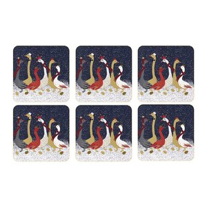 Sara Miller Sara Miller Christmas Geese Coasters Set of 6